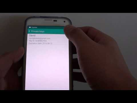 Samsung Galaxy S5: How to Manage Email Public / Private Key Encryption