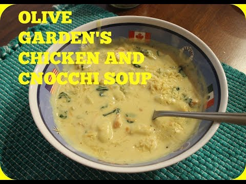 OLIVE GARDEN'S CHICKEN AND GNOCCHI SOUP 🍜