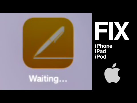 Downloading apps stuck on waiting iPhone iPad iPod how to fix