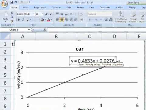 Regester's Using Excel 2007 Tutorial #12: Create a Best-Fit Line or Curve