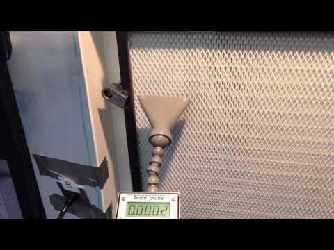 HEPA filter test demonstration - DOP test