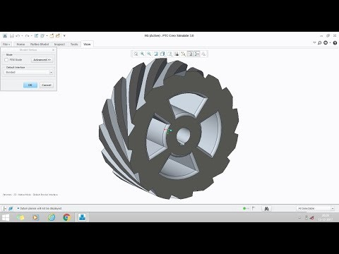 Helical gear design in creo parametric 2.0/3.0