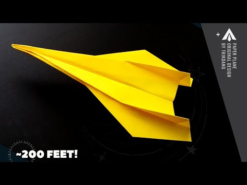 How to make a Long Distance Paper Airplane - Cool Origami Jet Fighter - Spirit Dragon