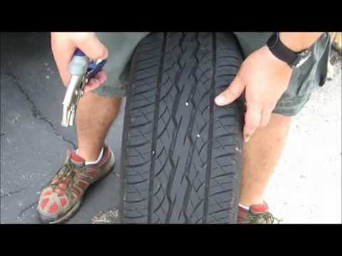 How to plug a tire ( Repair nail in tire )