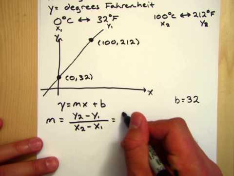 Calculus I, Question 1.5: Converting Celsius to Fahrenheit