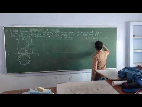 Engineering Drawing Development of cylinder