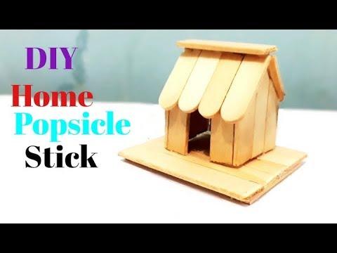 Cara Membuat Miniatur Rumah Simple Dari Stik Es Krim Sekitar Rumah