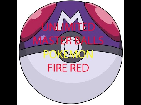 how to get unlimited master balls in leaf green/fire red GBA WORKING!!!