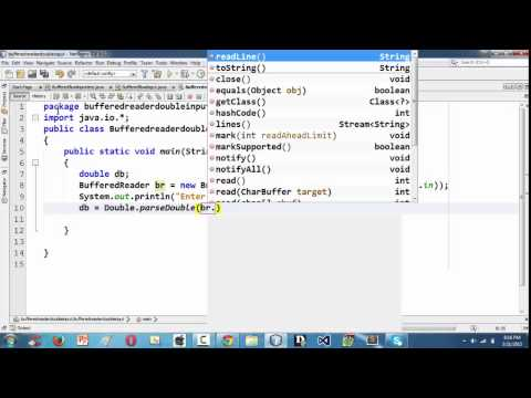 20.Inputting a double value in java using BufferedReader
