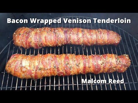 Bacon Wrapped Deer  Backstrap | Smoked Venison Tenderloin Malcom Reed HowToBBQRight