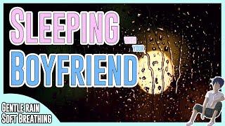 ASMR: Sleeping With Your Boyfriend [Breathing] [Soft Rain] [10Hours]