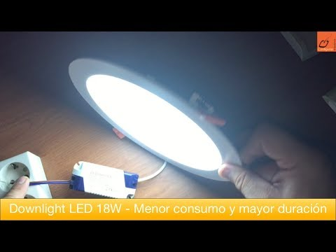 Downlight LED 18W - Menor consumo y mayor duración