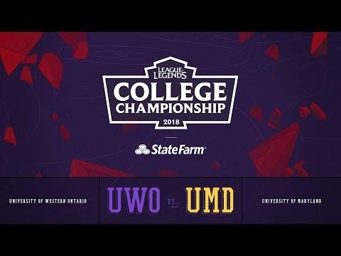 Western vs Maryland | QuarterFinals Game 1 | 2018 College Championship | UWO vs UMD