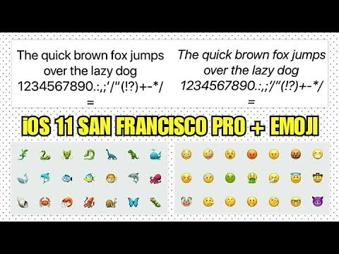 iOS 11 Font for ANDROID ttf / San Francisco Pro + Emoji