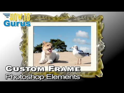 Photoshop Elements Add Border Frame to Photo : Border Effect 2018 15 14 13 12 11 Tutorial