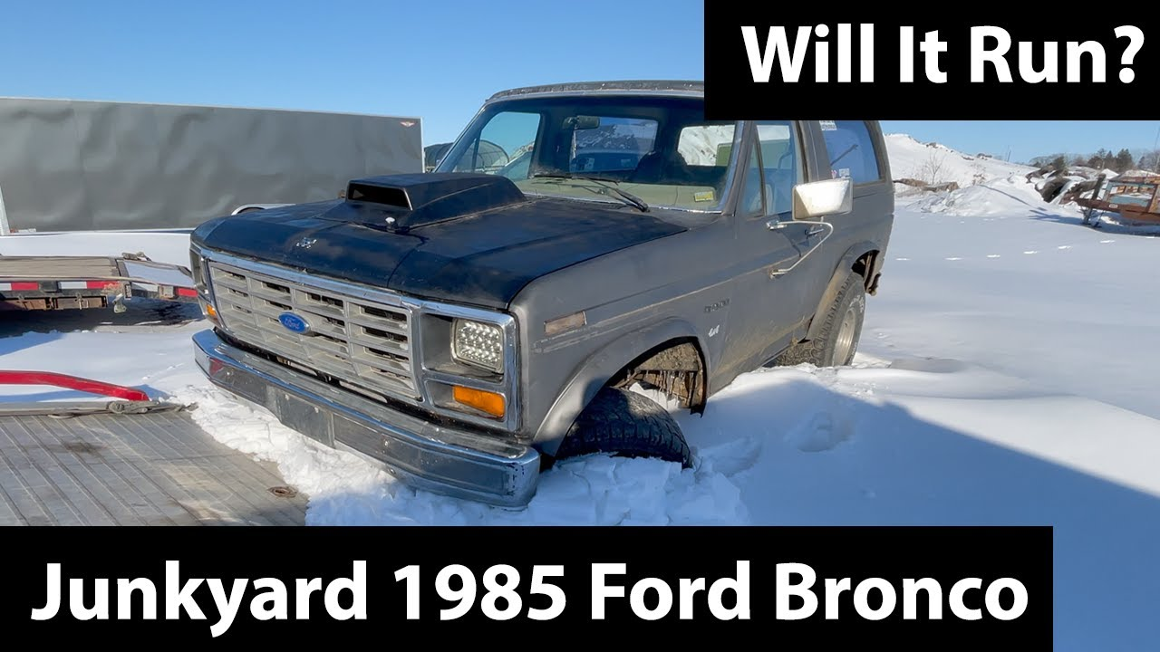 1985 Ford Bronco Would Rather Catch Fire Than Run