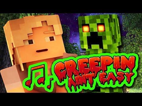 ♪ MINECRAFT SONG 'Creepin' Ain't Easy' Animated Minecraft Music Video - TryHardNinja