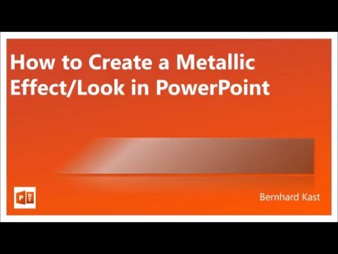 How to create Metallic Effect / Look in PowerPoint - NO texture