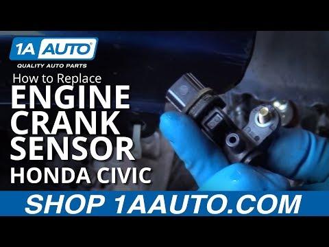 How to Install Replace Engine Crank Sensor 2001-05 Honda Civic