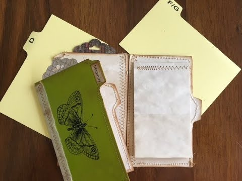 Tutorial - Making Booklets Using Recipe Card Dividers and Greeting Cards