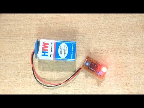 Flashing LED Light USING 555 TIMER IC