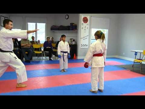 Karate 11 & Under, Boys and Girls Sparring - Brown & Black belts, IDSL of Manitoba 2012