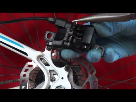 HOW TO CHANGE FIT BRAKE PADS SHIMANO BRM HYDRAULIC BICYLE DISC BRAKES