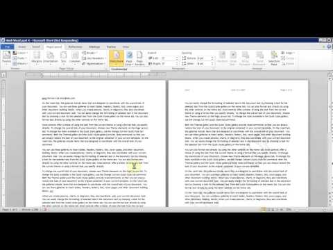 Hindi Microsoft Word pt 6 (Page Setup, Orientation, Margins, Breaks, Line Number)