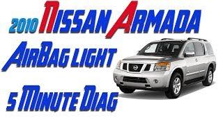 2010 Armada Airbag Light And Vdc Light On