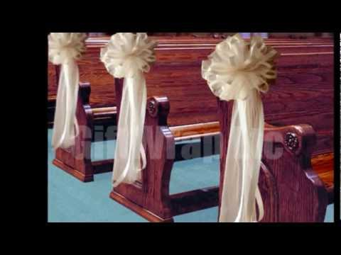 Tulle Pew Bows - Affordable Wedding Ideas - GiftWrap Etc.