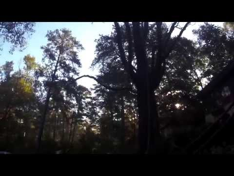 049 rope on tree dons gear swing off