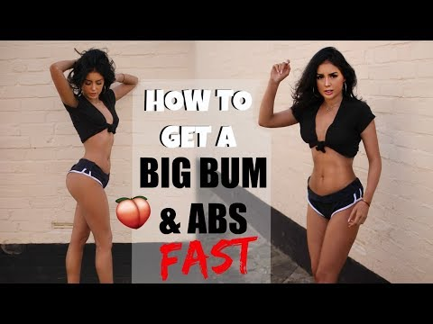 HOW TO GET A BIG BUTT & ABS FAST!! No Squats || WORKOUT ROUTINE
