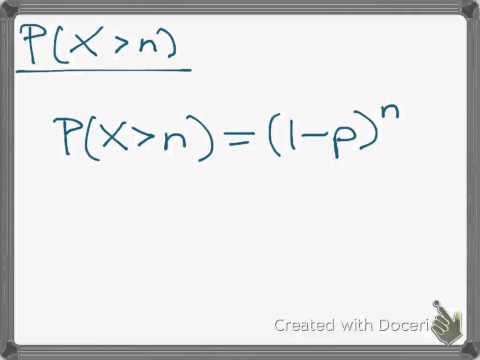 Expected Value of a Geometric Random Variable