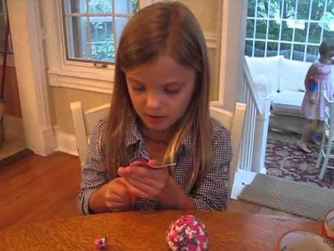Ella: How to make a duct tape ball