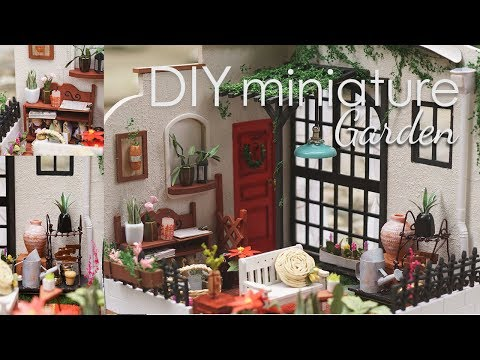 DIY Dollhouse Kit - Miniature Patio Garden - Miller's Garden