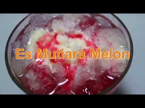 cara membuat es mutiara melon rumahan