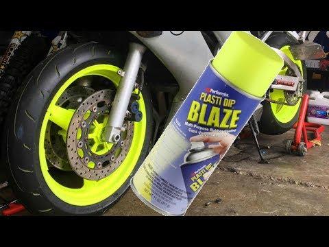 plasti dip motorcycle wheels??