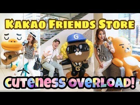 Kakao Friends Biggest Store & Ryan Cafe at Gangnam, Seoul