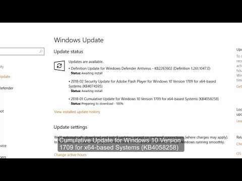 Cumulative Update for Windows 10 Version 1709 for x64 based Systems (KB4058258)