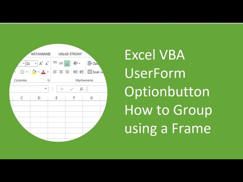 Excel VBA UserForm Optionbutton How to Group using a Frame