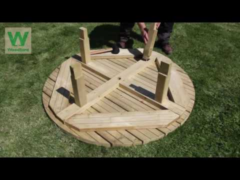 Woodford Timber Instructional Video #2: The 8 Seat Round Picnic Table
