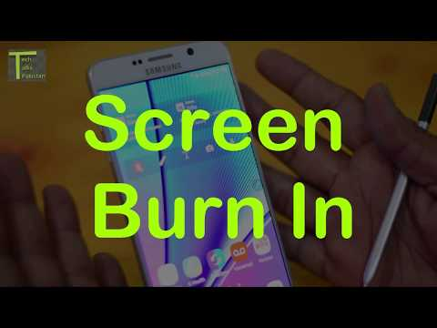 What is Screen burn-in and dead pixels -  fix screen burn In