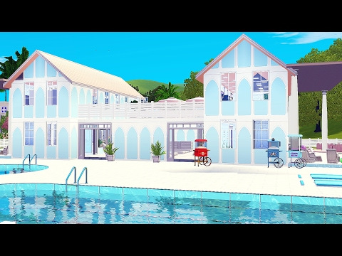 The Sims 3 | Speed Build: Community Lots #1 | Pastel Waterpark