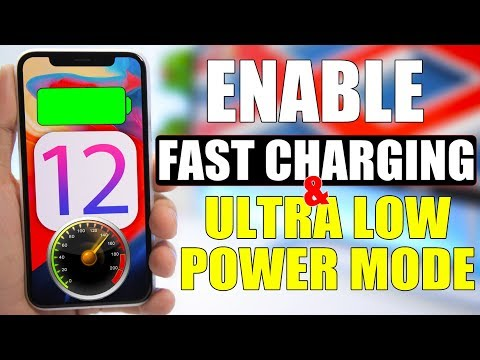 Enable FAST Charging & ULTRA Low Power Mode On iOS 12 !