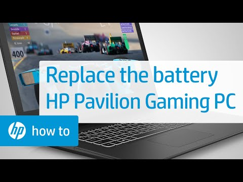 Removing and Replacing the Battery for HP Pavilion Gaming Notebook PC
