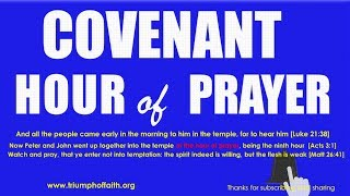 Covenant Hour of  Prayer,  June 20, 2018