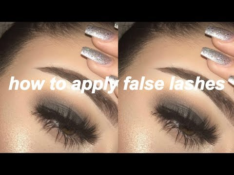 EASIEST/BEST Way to Apply False Lashes!!!