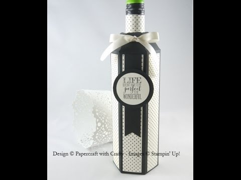 Wine Bottle Box - Gift Bag Punch Board