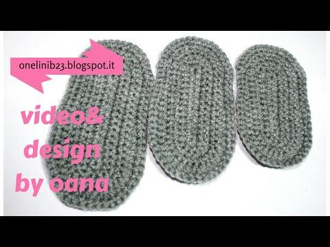 crochet 3 baby size soles