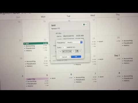 How to put college classes into Apple calendar app